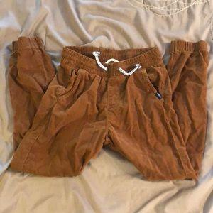 H&M Brown Corduroy Jogger Pants
